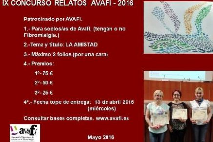 IX CONCURSO RELATOS AVAFI- 2016