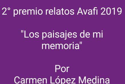 2º Premio Certamen Relato Avafi 2019