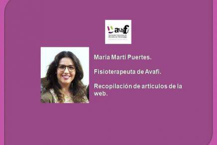 Artículos de María, fisioterapeuta de Avafi.